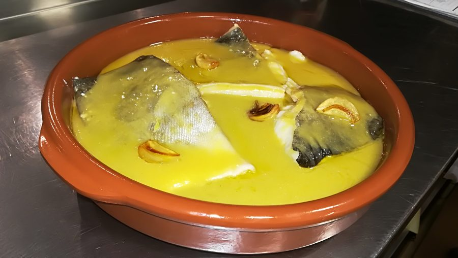 Comida casera en Galdakao. Bakalao al Pil-Pil