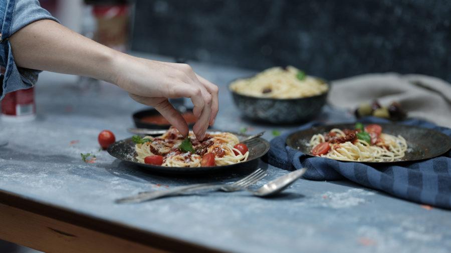 Receta de Pasta con albóndigas en salsa